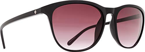 (Spy Optic Cameo Wrap Sunglasses, Black/Happy Merlot Fade, 1.5 mm)