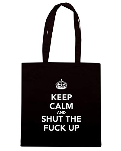Nera TKC0426 FUCK Borsa UP Shirt SHUT Shopper Speed THE KEEP CALM AND CwqfgtIgv
