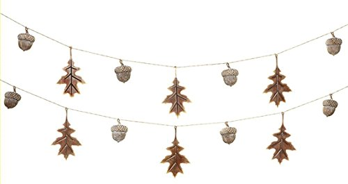 Acorn Garland (Midwest CBK Acorn and Oak Leaves Metal Garland for Fall or Cabin Theme Etc 6 Ft)