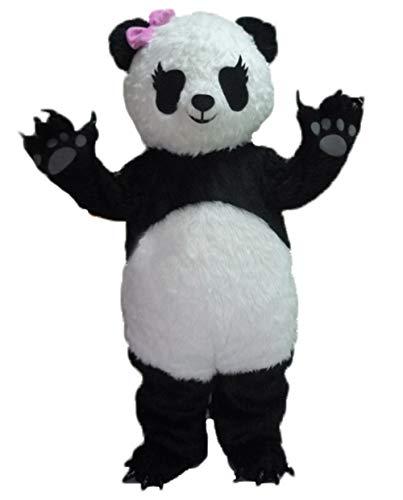 ARISMASCOTS Lovely Adult Size Girl Panda Mascot Costume Funny Mascot Costumes for Party Deguisement Mascotte ()