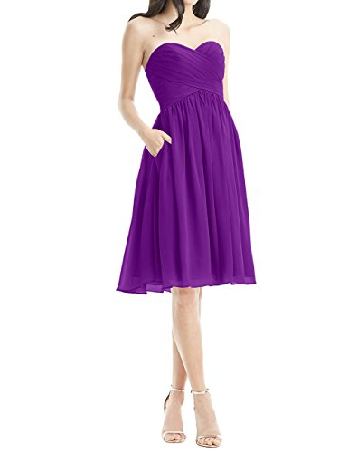 Chiffon Pockets ASBridal Short ASBridal Homecoming Bridesmaid Bridesmaid Dresses Dress Purple Dresses Short wqxgOv0UZ