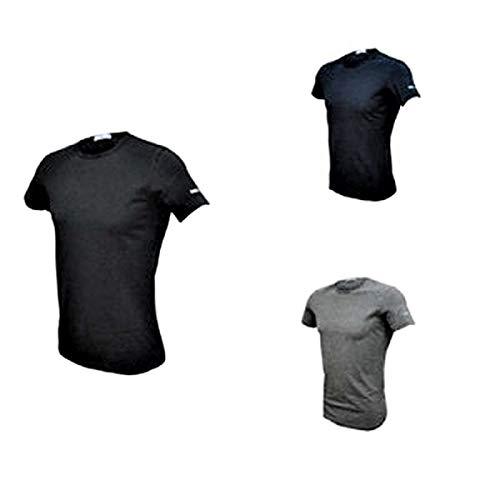 Girocollo Cotone blu Bielatico 3 Coveri grigio Uomo T Art shirt Nero Mezza Manica Et1000 Enrico qXHY0q