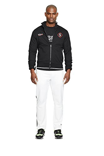 Polo Sport Cotton-Blend Track Jacket (Small, Polo Black )