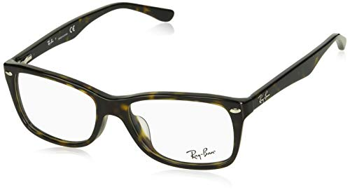 Ray-Ban RX5228F Square Asian Fit Eyeglass Frames, Tortoise/Demo Lens, 55 ()
