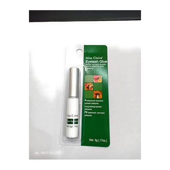 Miss Claire Gentle Non Toxic Eye Lash Adhesive For Attaching False Eyelashes (5G / .17Oz.) (Black)