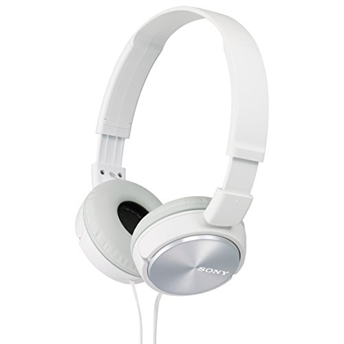 sony MDRZX310-WQ Foldable Headphones - Metallic White -