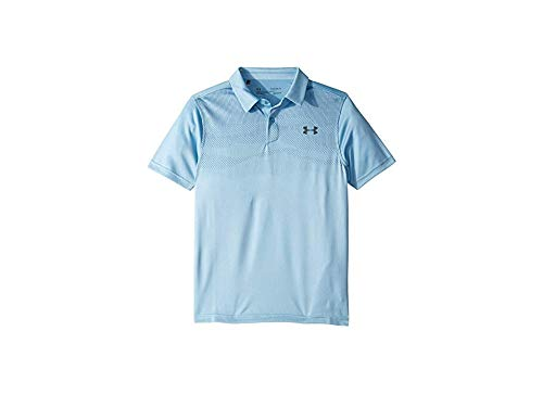 Under Armour Jordan Spieth 3Rd Major Saturday Polo, Boho Blue//Pitch Gray, Youth Small by Under Armour
