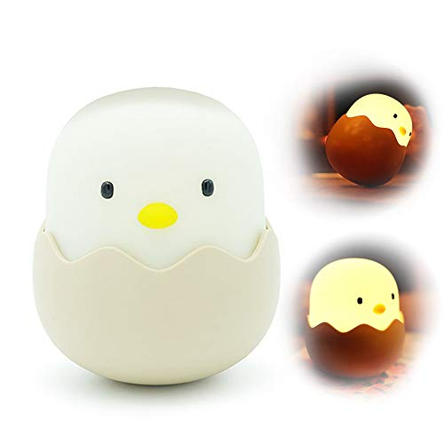 INST Kids Night Lights, Baby Night Light, Cute Chick LED Night Light with Touch Sensor, Best Baby Gift (Rechargeable Warm White LED - Chickn Top