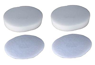 Techypro 2 pack Shark Nv80 Nv70 &UV420 Part# Xff80 Vacuum Cleaners Replacement Foam & Felt Filter Washable Reusable
