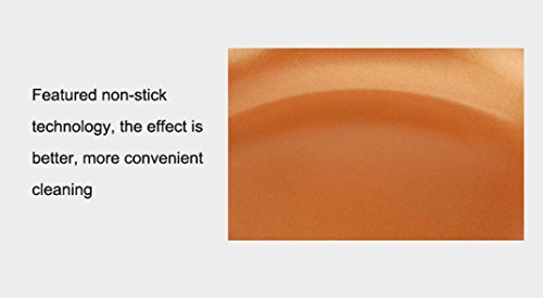 Not Stick Pan Fry Dish,Efaster Practical Copper Color Aluminum Alloy Non-stick Pan Fry Cooking Pot (9.5 Inch)