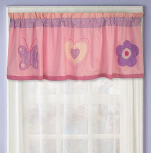 PEM America Spring Hearts Window Valance in Light Pinks for sale  Delivered anywhere in USA