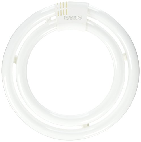 TCP 32058 CFL Circle Lamp – 200 Watt Equivalent (only 58w used) Soft White (2700K) T6 Circline Lamp
