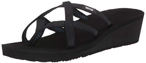 Teva Women's W Mush Mandalyn Wedge Ola 2 Flip-Flop, Black, 6 M US