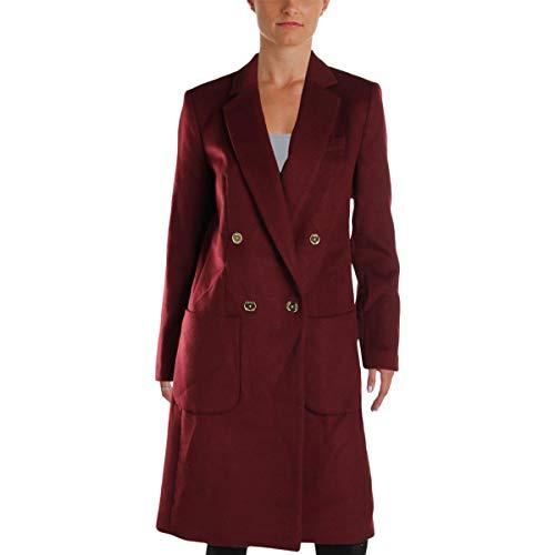 Michael Kors Trench - Michael Michael Kors Womens Winter Wool Blend Pea Coat Red 2