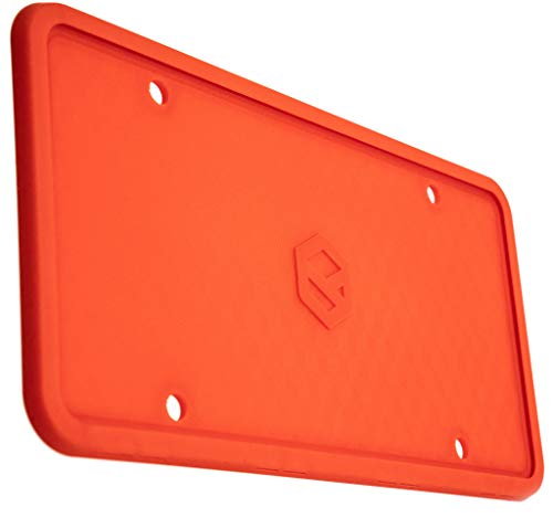 Rightcar Solutions Flawless Silicone License Plate Frame - Rust-Proof. Rattle-Proof. Weather-Proof. - Red