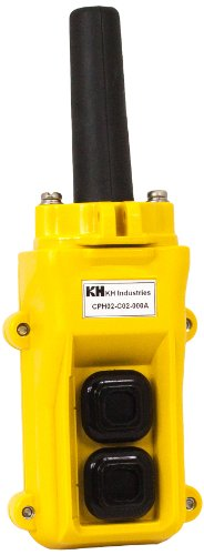 (KH Industries CPH02-C02-000A 2 Push Buttons Pendant Control Switch, Single)