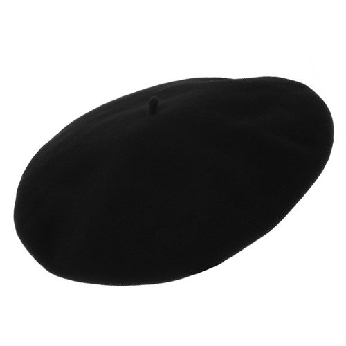 Hoquy French Beret by Laulhere-BLACK-60