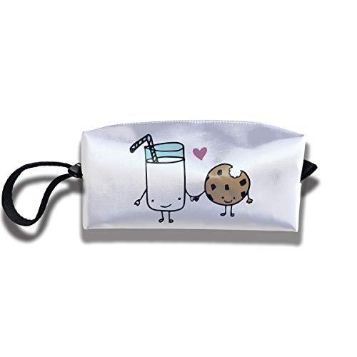 Cosmetic Bags With Zipper Makeup Bag Milk And