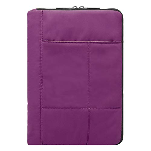 VG Pillow Quilted Nylon Sleeve for iPad Air(2019), iPad 9.7, iPad Pro 11, iPad Pro 10.5, iPad Air 2, Tablets up to 11.25 inch (Purple)