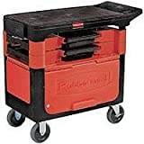 Rubbermaid Commercial Products RCP 6180-88 BLA Trades Cart W/ Lock Cabinet 38X19.25X33.4 Bla