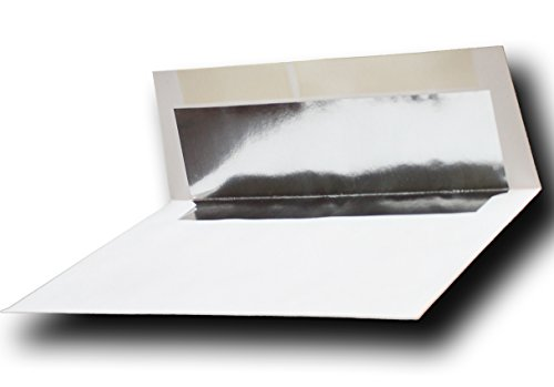 "Silver Foil-Lined 70lb. White A7 Envelopes (50 Boxed) for 5"" X 7"" Weddings Invitations Announcements from The Envelope Gallery"