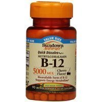 Sundown Naturals Methylcobalamin B-12 Dietary Supplement, 5000 mcg, 90 Count Thank you for using our service