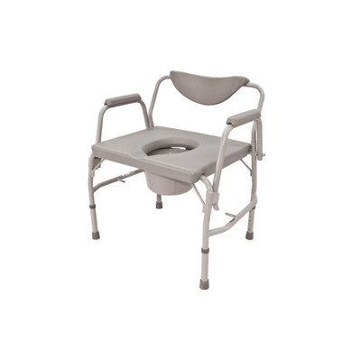 Roscoe Medical Bariatric Drop-Arm Commode Gray