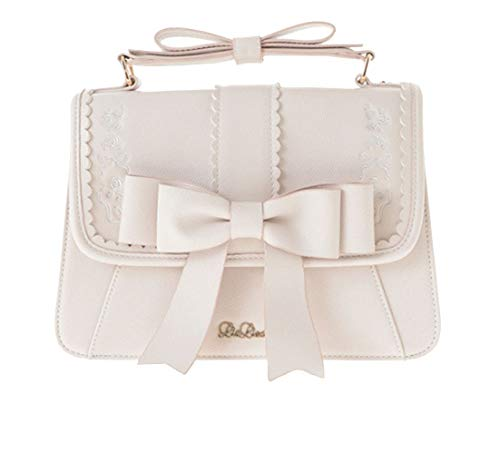 - Nite closet Lolita Handbag Cute Purses Shoulder Bag for Women Vintage Satchel Bowknot (Pearl pink)