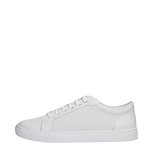 AJ Armani Jeans C6547 Sneakers Homme Cuir Blanc 44