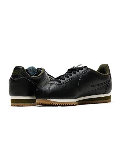 Nike – Zapatillas para mujer Classic Cortez – Leather, black/black-legion green-glaci