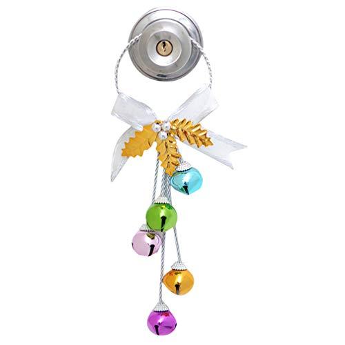 LJSLYJ Colorful Christmas Hanging Decorations Door Hangers Drop Ornaments Jingle Bell Pendants Christmas Tree Home Decor