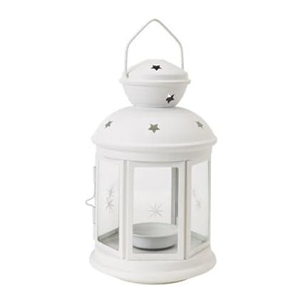 IKEA Rotera - Farol para vela (acero/vidrio, para uso interior y exterior