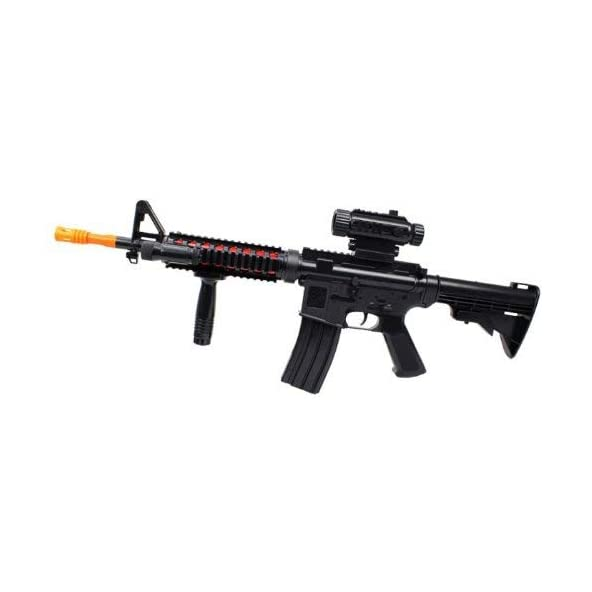 Velocity Toys Td 2011 M4/M16 A4 Electric Toy Gun W/ Lights & Sounds, Includes Vertical Foregrip, Removable Scope