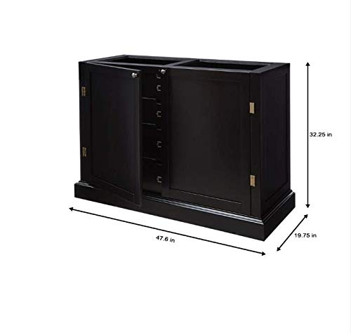 Home Decorators Collection Prescott Solid Black Modular 4 Drawer Pantry Base