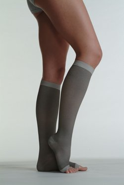 Juzo 2061ADSH I I Silver Soft Open Toe Knee High Short 20-30 mmHg Compression Stockings by Juzo
