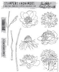 Stamper's Anonymous Tim Holtz Cling Stamps ~ Flower Garden by Sizzix