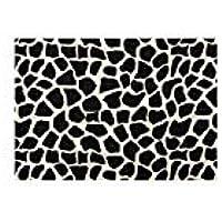 Casa Copenhagen Black Animal Skin Cotton Area Rug for Entryway Doorway Hallway Living Dining Bath, Cream & Black