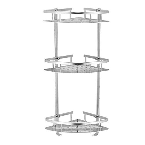 3 Layer Triangular Shower Shelf Bathroom Corner bath Rack Storage Basket Hanger