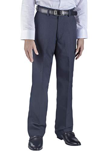 (Alberto Cardinali Big Boys Dress Pants Belted Flat Front (8, Navy))