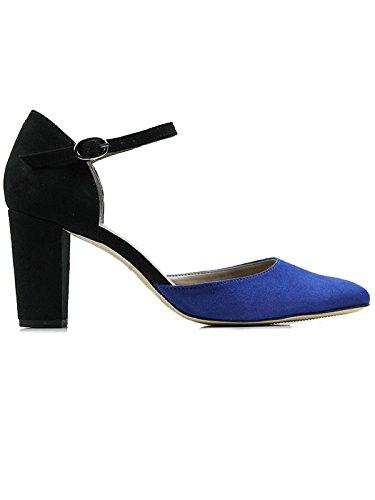 Will's Vegan Shoes BLOCK HEELS BLACK/BLUE