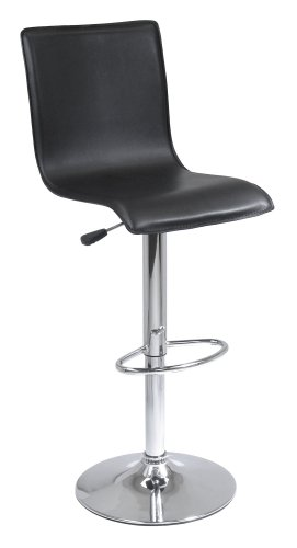 Winsome Spectrum L-Back Airlift Adjustable Swivel Stool, Faux Leather