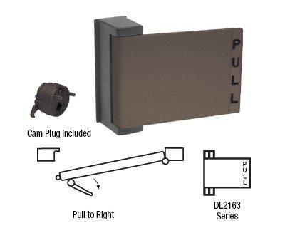 CRL Duranodic Bronze Finish Universal Push-Pull Paddle Handle - Pull to Right