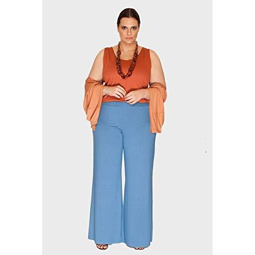 Calça Pantalona Plus Size Azul-44/46