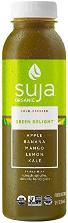 Suja Green Delight, Organic & Cold-Pressed Fruit and Vegetable Juice Smoothie, 12 oz