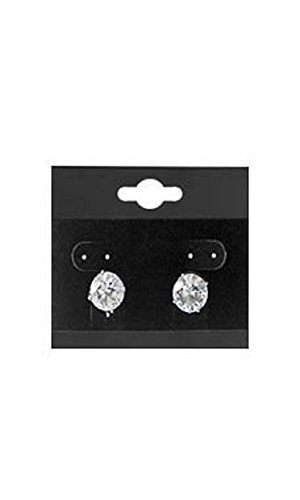 1 ½ inch Square Black Velour Earring Cards - Pack of (Velour Square)