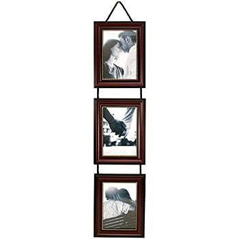 Amazon.com - Yaetm 3-Frame Set On Hanging Rope, Solid Wood Photo ...