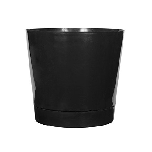 (Full Depth Round Cylinder Pot, Black, 10-Inch )