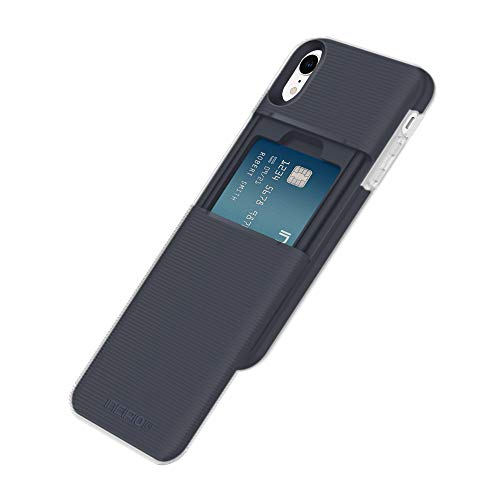 Incipio Stashback Wallet Case for iPhone XR (6.1) with Heavy Duty Credit Card Compartment - Blue