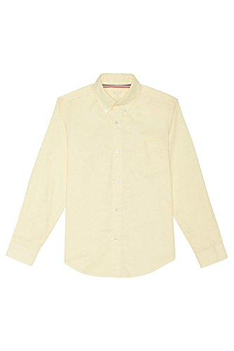 French Toast Big Boys' Long Sleeve Oxford Dress Shirt, Yellow, 10 by French Toast