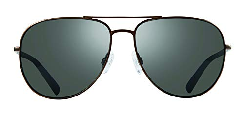 Revo Polarized Sunglasses Tarquin Aviator Frame 61 mm, Gunmetal, Graphite